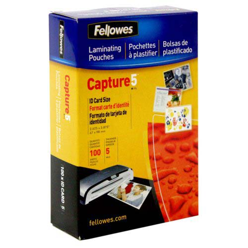 Fellowes 5mil Unpunched ID Card Laminating Pouches 100pk (52015) Image 1