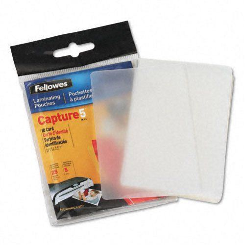 Fellowes 5mil Unpunched ID Card Laminating Pouches 25pk (52007) Image 1
