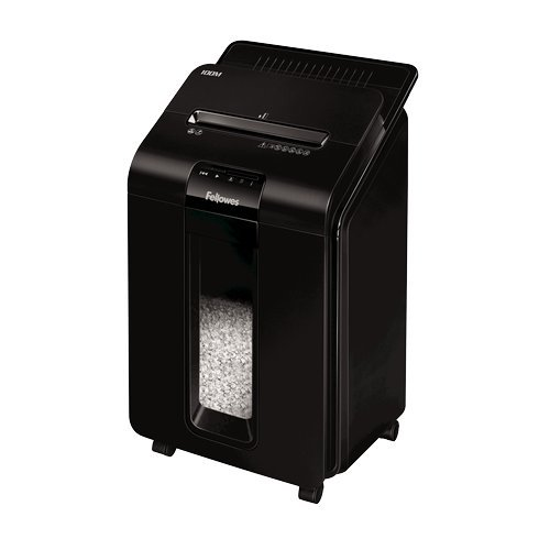 Fellowes AutoMax 100M Auto Feed Level P-4 Micro-Cut Shredder (4629001) Image 1