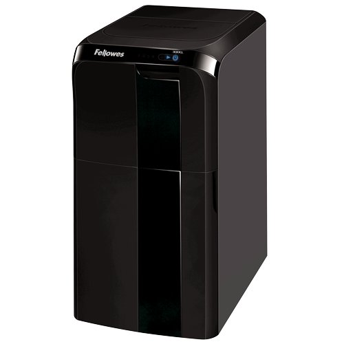 Fellowes Automax 300CL Auto Feed Level P-4 Cross-Cut Shredder (4655401), Paper Shredders Image 1
