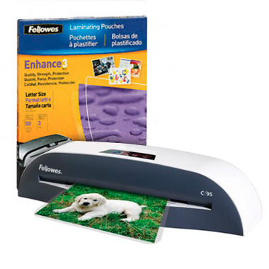 Fellowes 9 Inch Jam Free Laminator with FREE Pouch Starter Kit (5720901) Image 1
