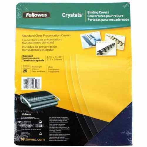 Fellowes Crystals Clear Oversize Binding Covers 25pk (52309) Image 1