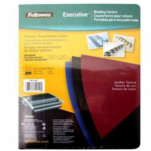 Black Fellowes Binding Covers Image 1