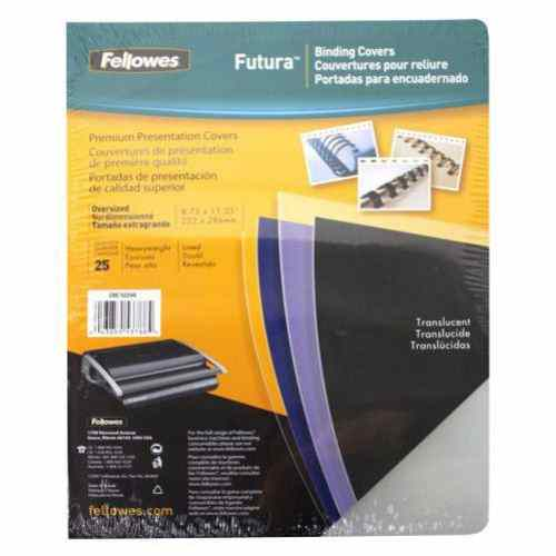 Fellowes Futura Lined Clear Binding Covers - 25pk (FELFLCBC), Covers Image 1