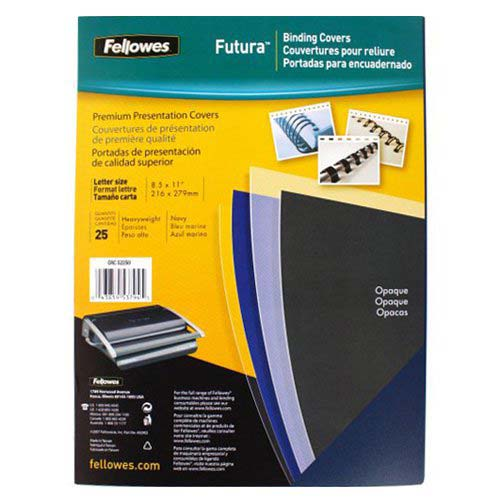 Fellowes Futura Navy Blue Binding Covers (FELFUTBCNV) Image 1