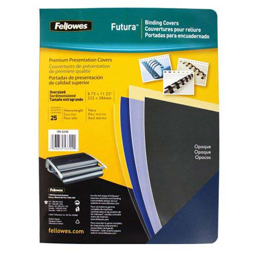 Fellowes Futura Navy Blue Oversize Binding Covers 25pk (5224801) Image 1