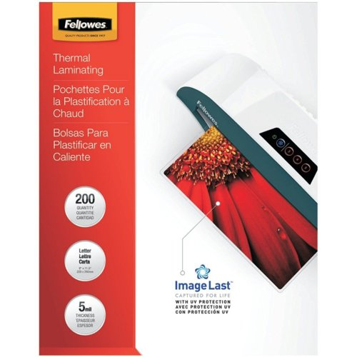 Fellowes ImageLast 5mil Letter Size Laminating Pouches 200pk (5245301) Image 1