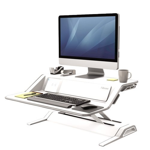 Fellowes Lotus DX White Sit-Stand Workstation (8080201)