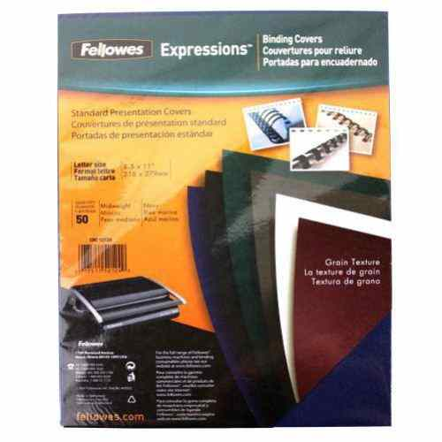 Fellowes Navy Grain Letter Size Binding Covers 50pk (52124) Image 1