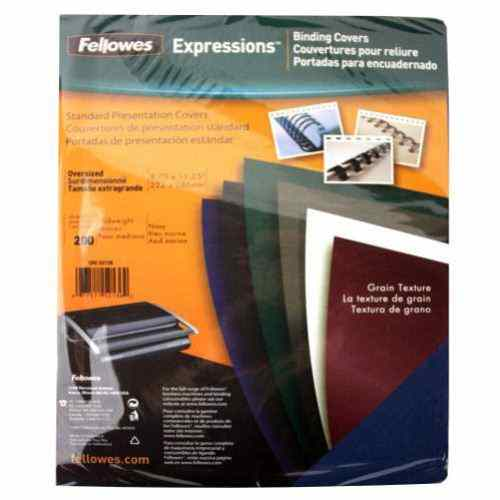 Fellowes Navy Grain Oversize Binding Covers 200pk (52136) Image 1