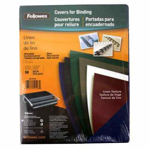 Fellowes Navy Linen Binding Covers (FELCNV) Image 1