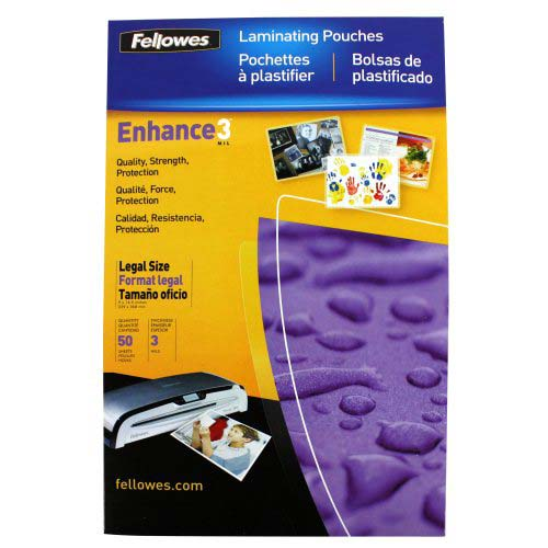 Fellowes Premium 3mil Legal Size Laminating Pouches 50pk (52226) Image 1