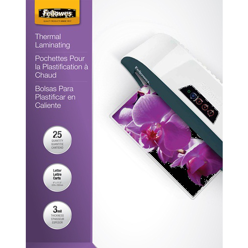 Fellowes ImageLast 3mil Letter Size Laminating Pouches 25pk (5200501) Image 1