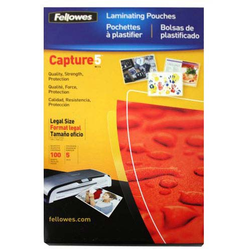 Fellowes Premium 5mil Legal Size Laminating Pouches 100pk (52045) Image 1