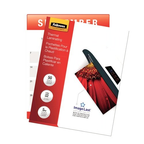 Fellowes Laminating Pouches 5 Mil Letter Image 1