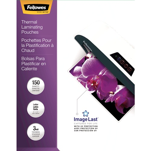 Fellowes ImageLast 3mil Letter Size Laminating Pouches 150pk (5200509) Image 1