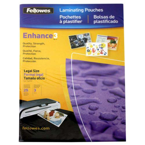 Fellowes Premium Legal Size Laminating Pouches (FELPLEGP) Image 1