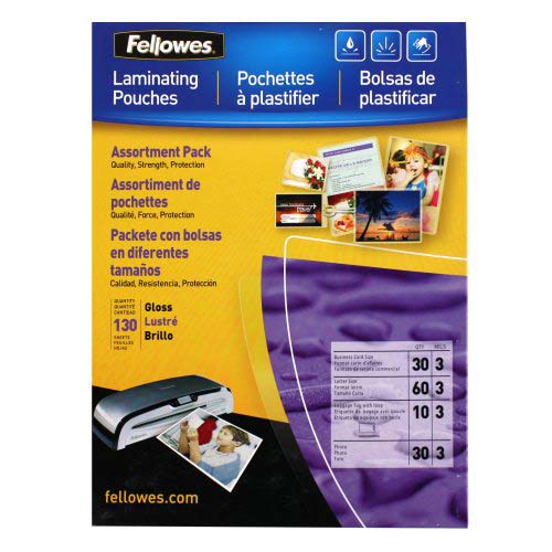 Fellowes Premium Pouch Laminating Starter Kit 130pk (5208502) Image 1