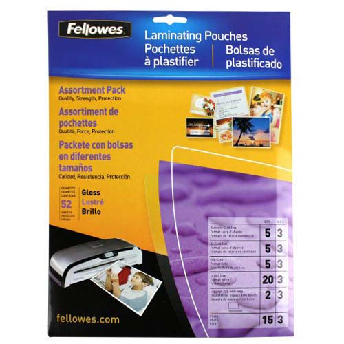 Fellowes 3 Mil Pouches Image 1