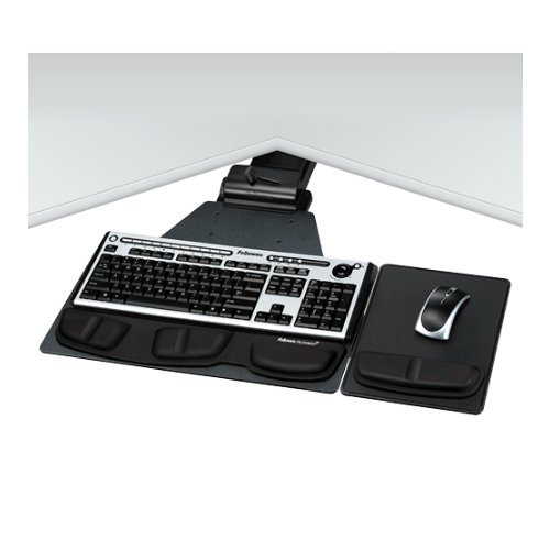 Fellowes Professional Series Corner Executive Keyboard Tray (FEL-8035901), Work from Home Products Image 1