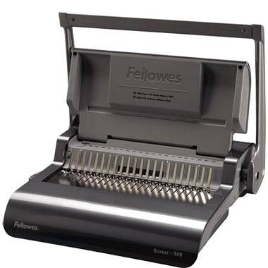 Fellowes Quasar+ Plastic Comb Binding Machine (5227201) Image 1