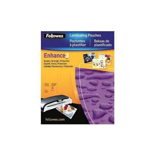 Fellowes Self Adhesive Business Card Size Laminating Pouches 5pk (5220101) Image 1