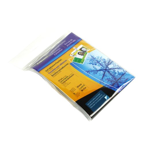 Fellowes Self Adhesive ID Tag Pouches with Slots 5pk (5220701) - $2.89 Image 1