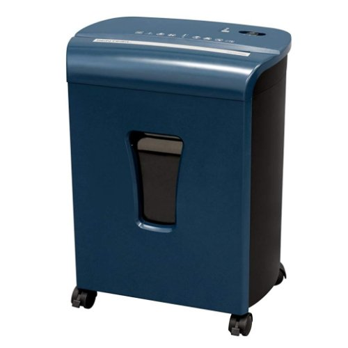 Sentinel FM102P Blue 10-Sheet Level P-4 Micro-Cut Paper Shredder (FM102P-BLE), Work from Home Products Image 1