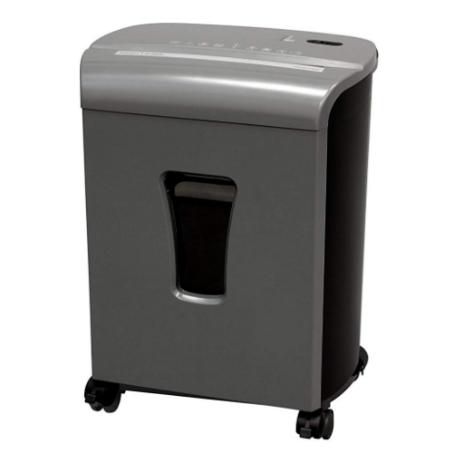 Sentinel FM102P Gunmetal 10-Sheet Level P-4 Micro-Cut Paper Shredder (FM102P-GUN), Work from Home Products Image 1