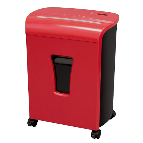 Sentinel FM102P Red 10-Sheet Level P-4 Micro-Cut Paper Shredder (FM102P-RED), Work from Home Products Image 1