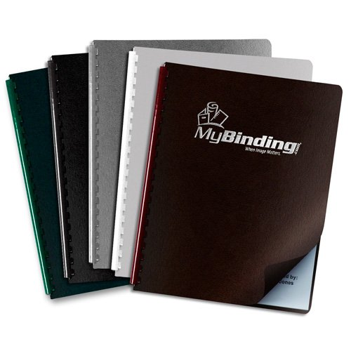 Regency Leatherette Foil Printed Vinyl Covers - Add Your Logo (MYFPC-LEATHER)