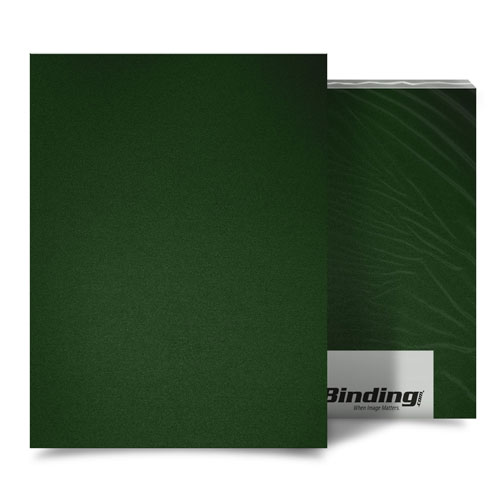 "Forest Green 23mil Sand Poly 11"" x 17"" Binding Covers - 25pk (MYMP2311X17FG) Image 1"