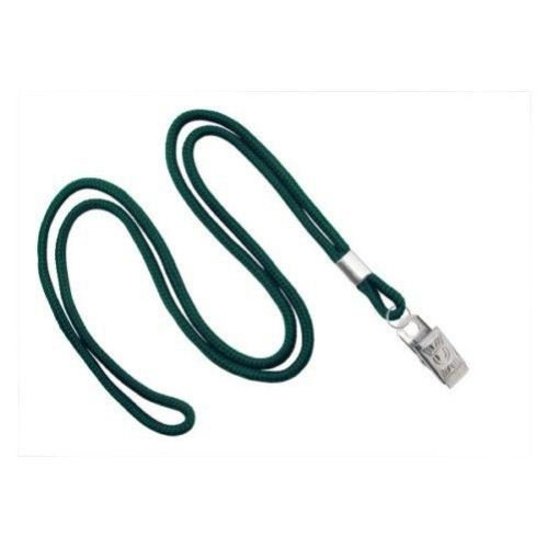 Forest Green Round Braid Lanyard with NPS Bulldog Clip 100pk (MYID21353264) Image 1