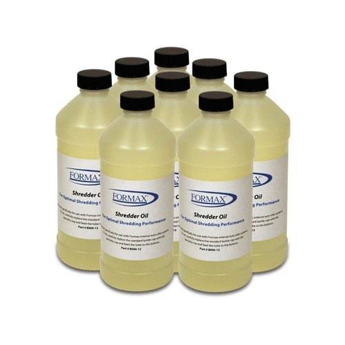 Formax 16oz. Shreddr Oil for Internal AutoOiler Systems - 8 Bottles (8000-12) Image 1