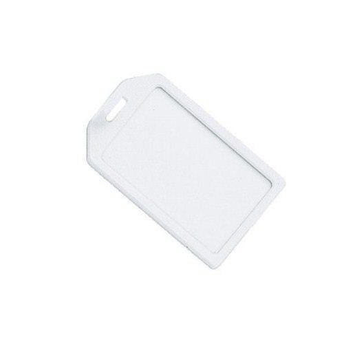 Frost Rigid Plastic Heavy Duty Luggage Tag Holders - 100pk (1840-6200) Image 1