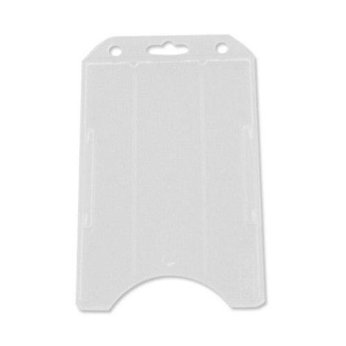 Frosted Open Face Vertical Rigid Badge Holders - 50pk (1840-8160) Image 1