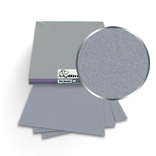 "Galvanised 8.5"" x 11"" Metallics Covers With Windows - 50 Sets (MYMC8.5X11GAW) Image 1"