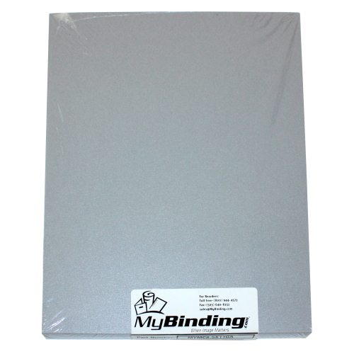 "Galvanised 9"" x 11"" Index Allowance Metallics Covers With Windows - 50 Sets (MYMC9X11GAW) Image 1"