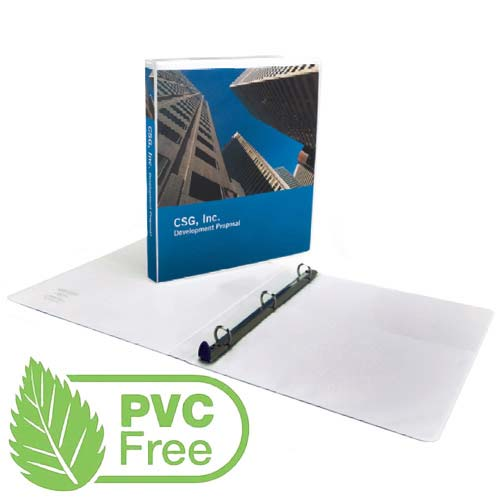 "GBC 4"" D-Ring Premium PVC-Free White Clear View Binder - 6pk (8310518) Image 1"