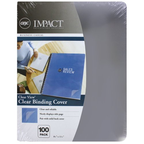 "GBC 7mil 8.75"" x 11.25"" Clear View Covers 100pk (2000036P) Image 1"
