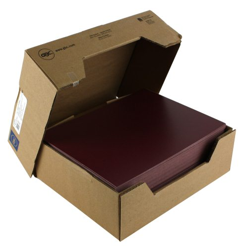 "GBC 8.5"" x 11"" Burgundy Regency Covers 200pk (9742493G) Image 1"