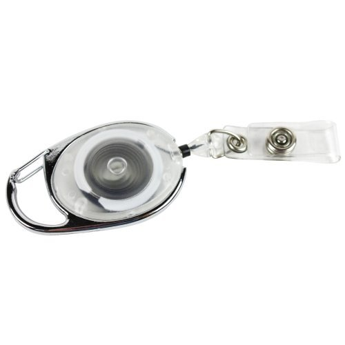 Clear Carabiner Badge Reel Image 1