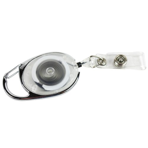 Carabiner Badge Reel with Clear Vinyl Strap