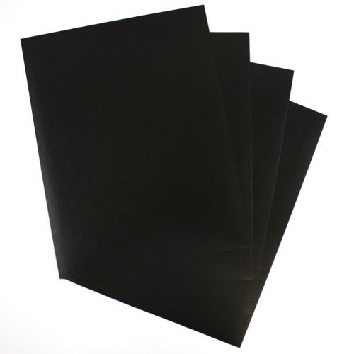 "GBC Black 8.5"" x 11"" Regency Leatherette Covers (GBCBLK8.5X11RLC) Image 1"