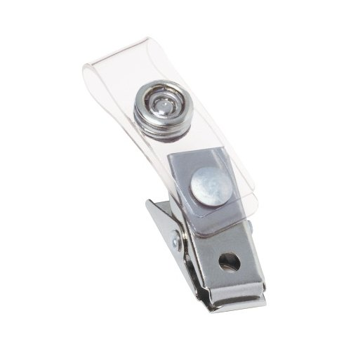 GBC Clear ID Badge Clip with Mylar Strap 10pk (3747210) - $3.28 Image 1