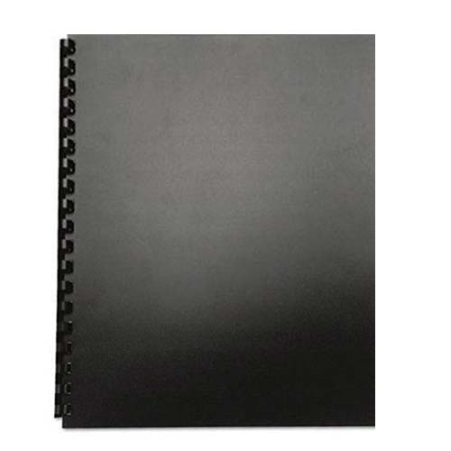 GBC ECO Friendly Black Recycled Poly Covers 25pk (25818) Image 1