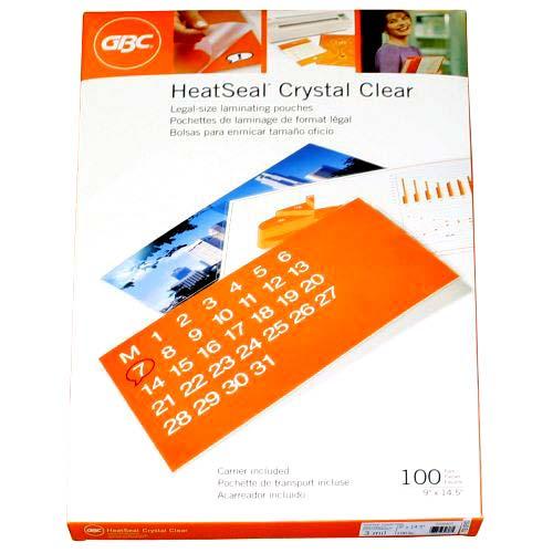 GBC HeatSeal Crystal Clear Legal Size Pouches (GBCHSLCCLEGLP) Image 1