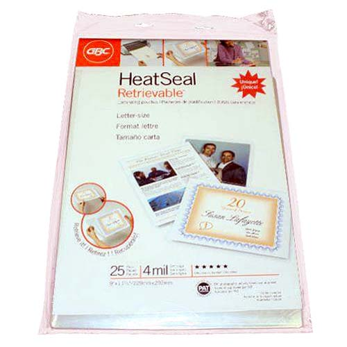 GBC Heatseal Letter Size Laminating Pouches Image 1