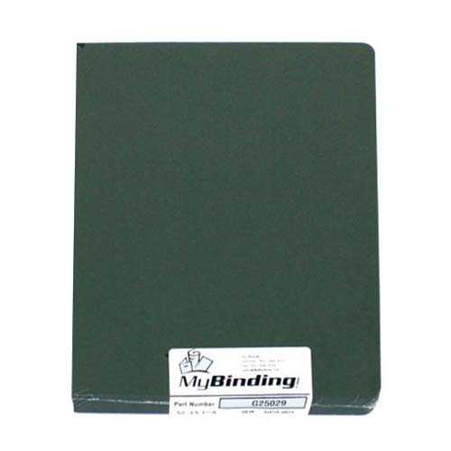 "GBC Hunter Green Grain 8.75"" x 11.25"" Covers 50pk (25029x)"
