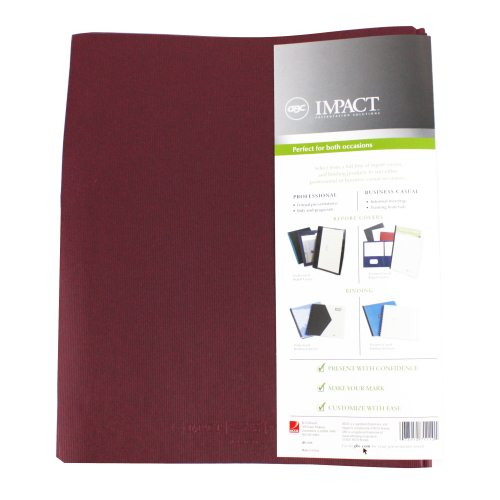 GBC Impact Frosted Front Burgundy Two Pocket Report Cover (W71110) Image 1